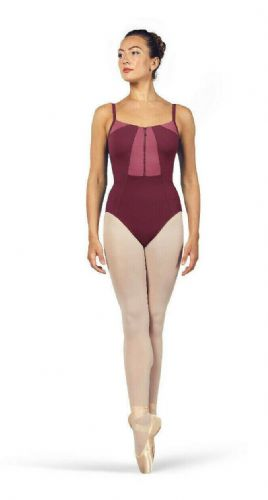 BLOCH Ladies Dance Camisole Leotard Zip Front Vilette L4927 Dewberry Pink